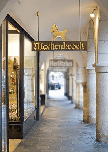 Mackenbrock Münster Eingang Ladenlokal