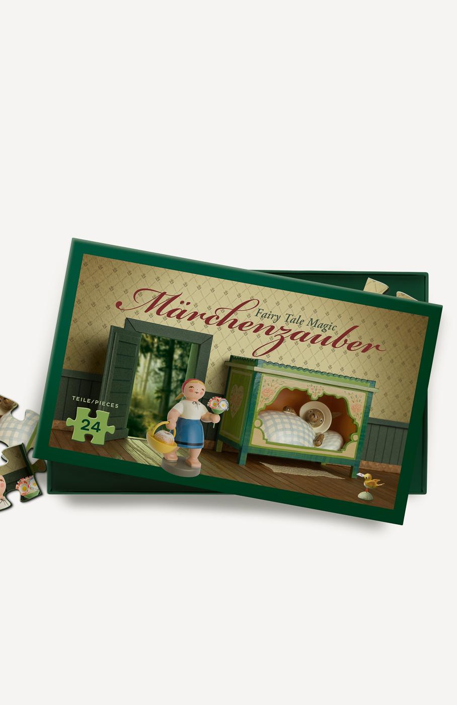 """Märchenpuzzle, """"Rotkäppchen und der Wolf"""", 24 Teile"""