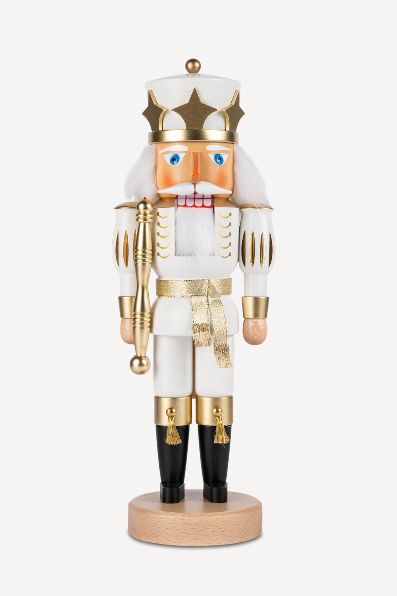 Nussknacker, Prinz, weiß-gold