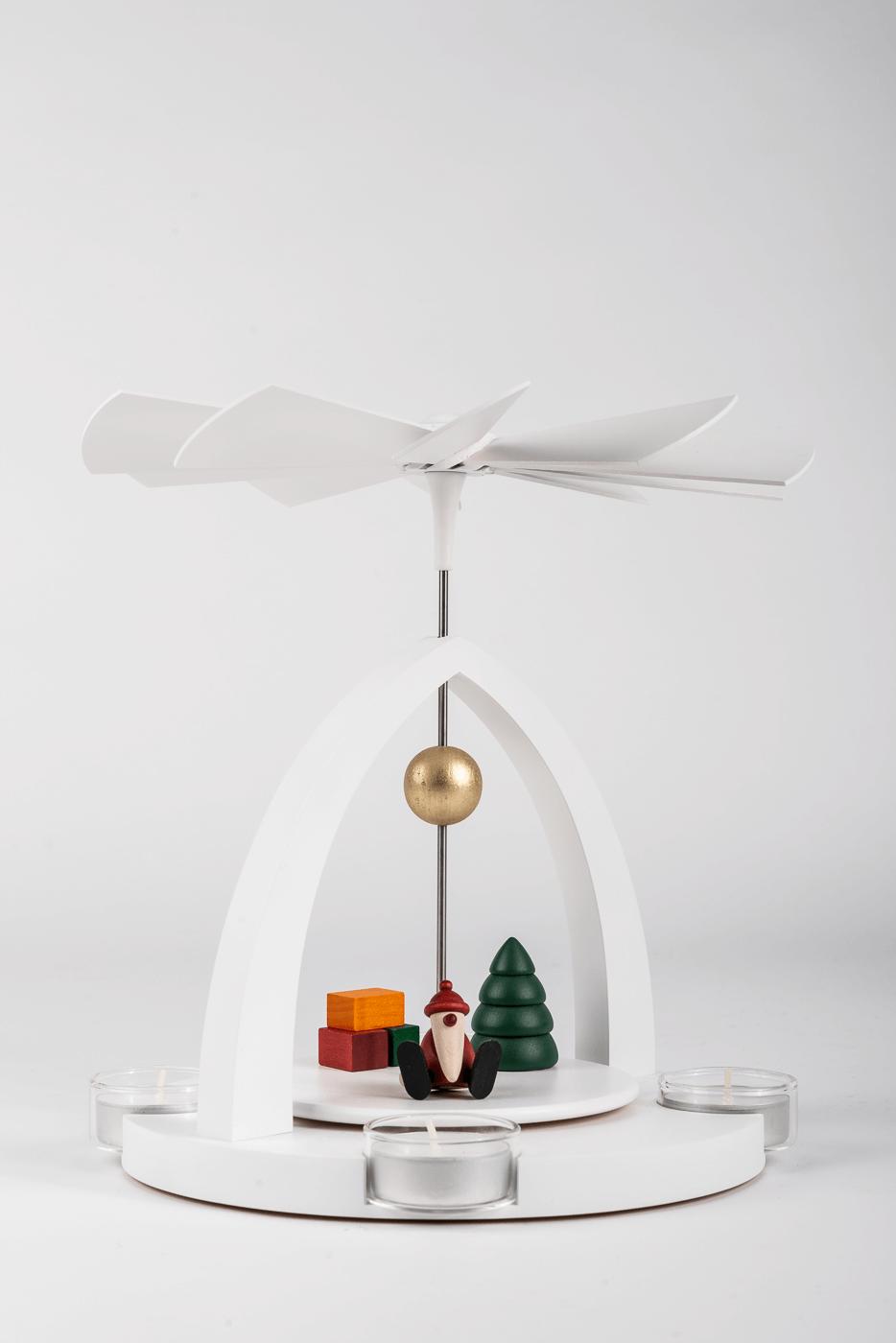 Teelichtpyramide / Weihnachtsmann - Set