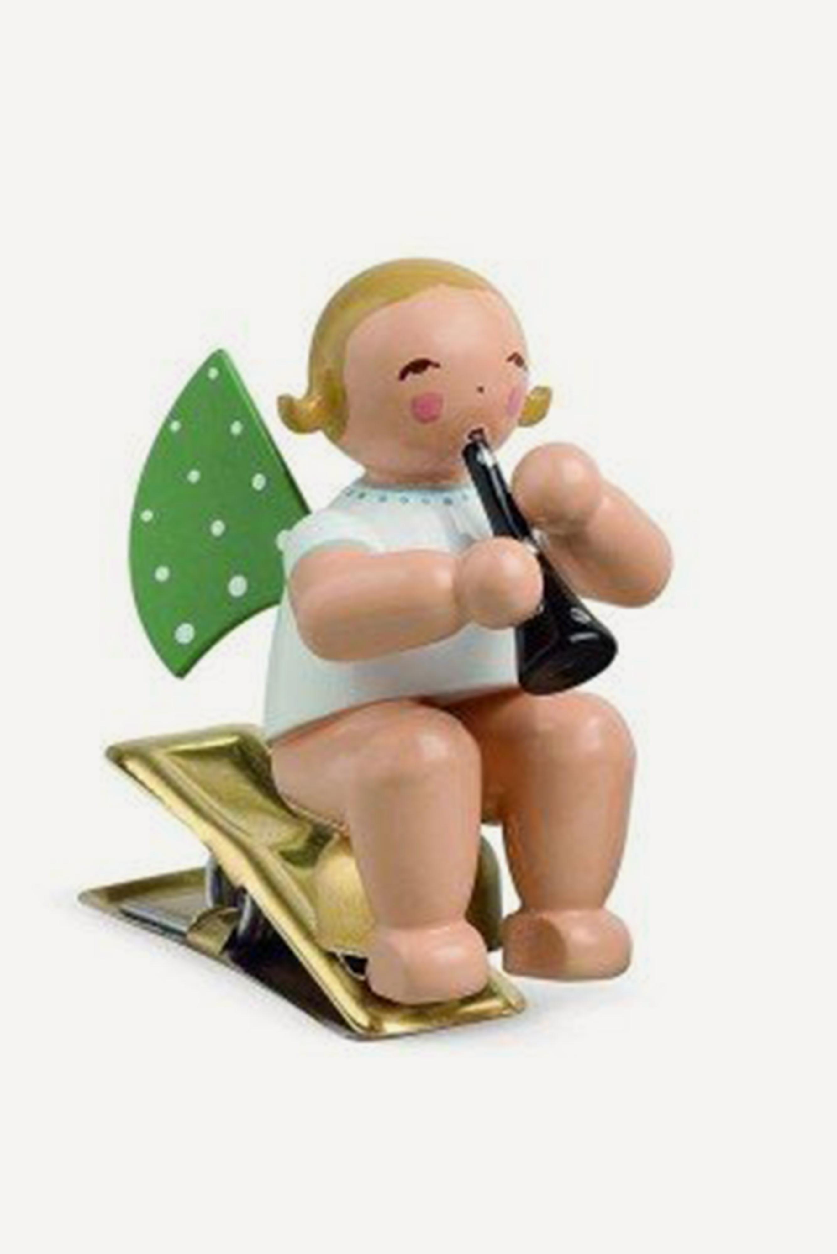 Engel mit Klarinette, auf Klemme