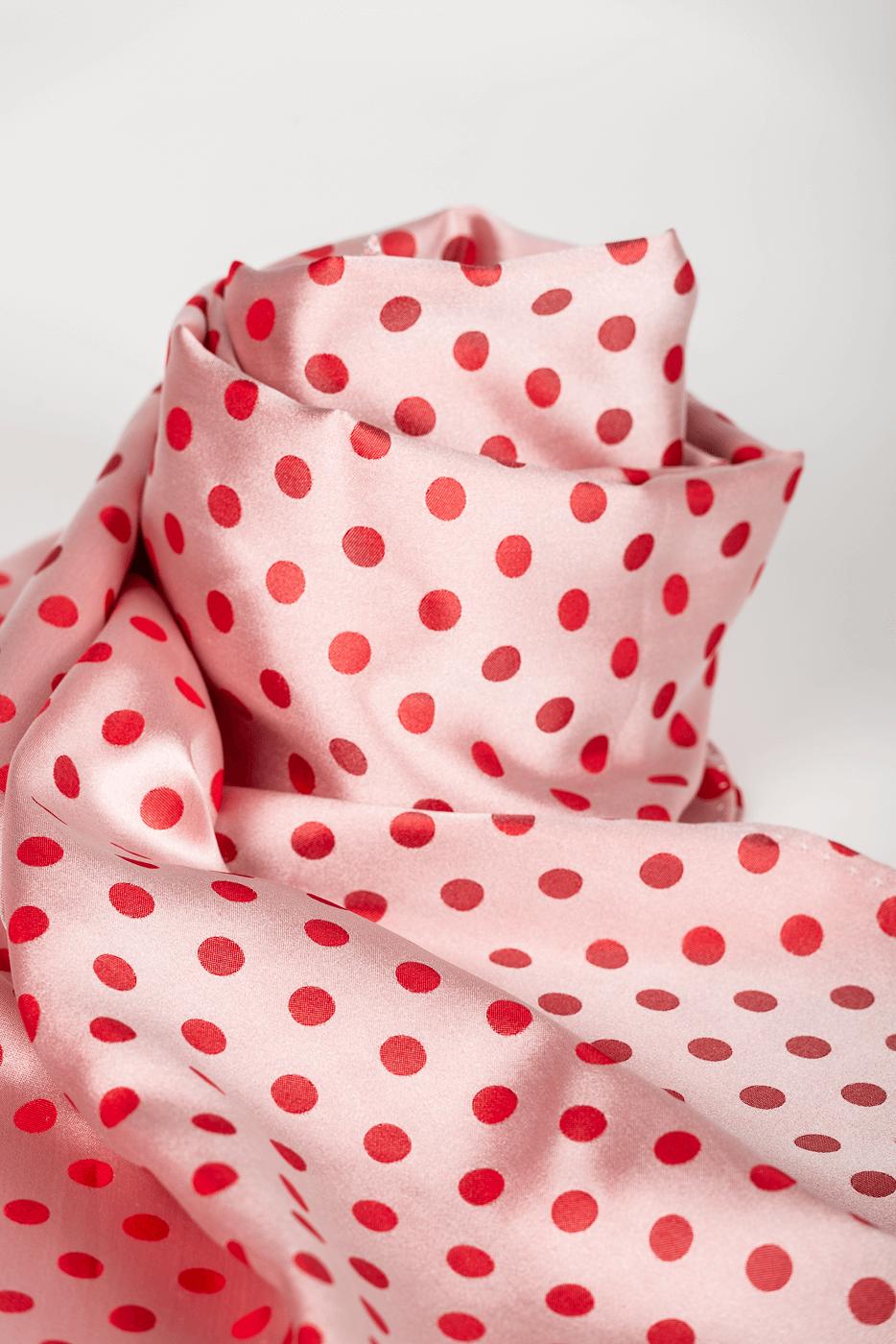 Schal Punkte, rot/rosa