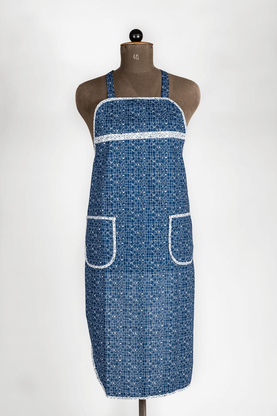 Damenlatzschürze, blau