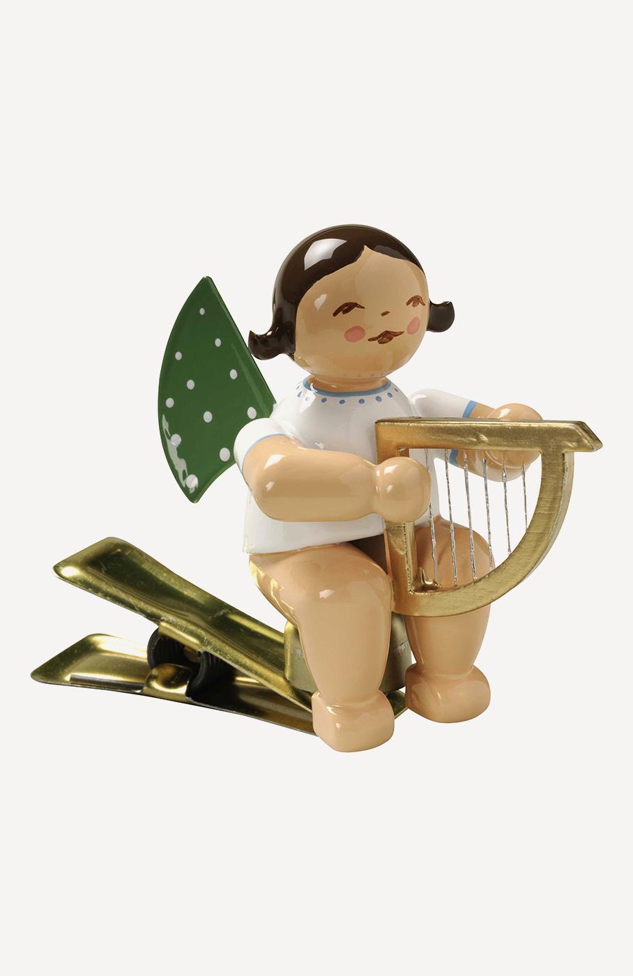 Engel mit Harfe, auf Klemme