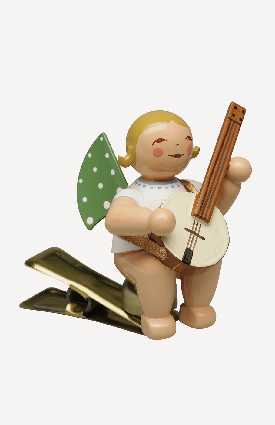 Engel mit Banjo, auf Klemme