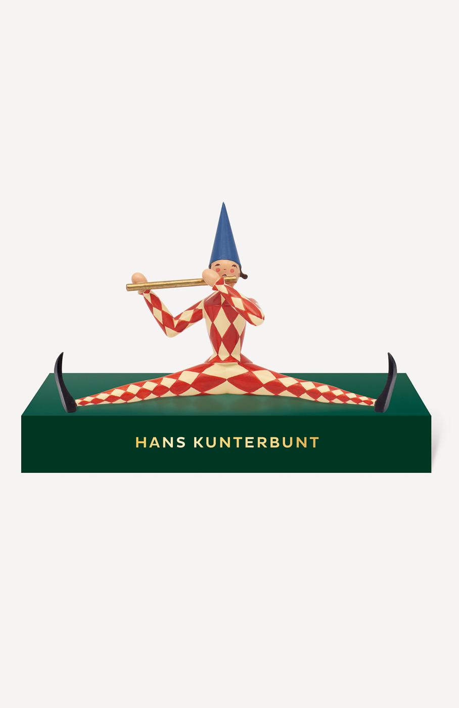 Hans Kunterbunt, klein, mit Podest
