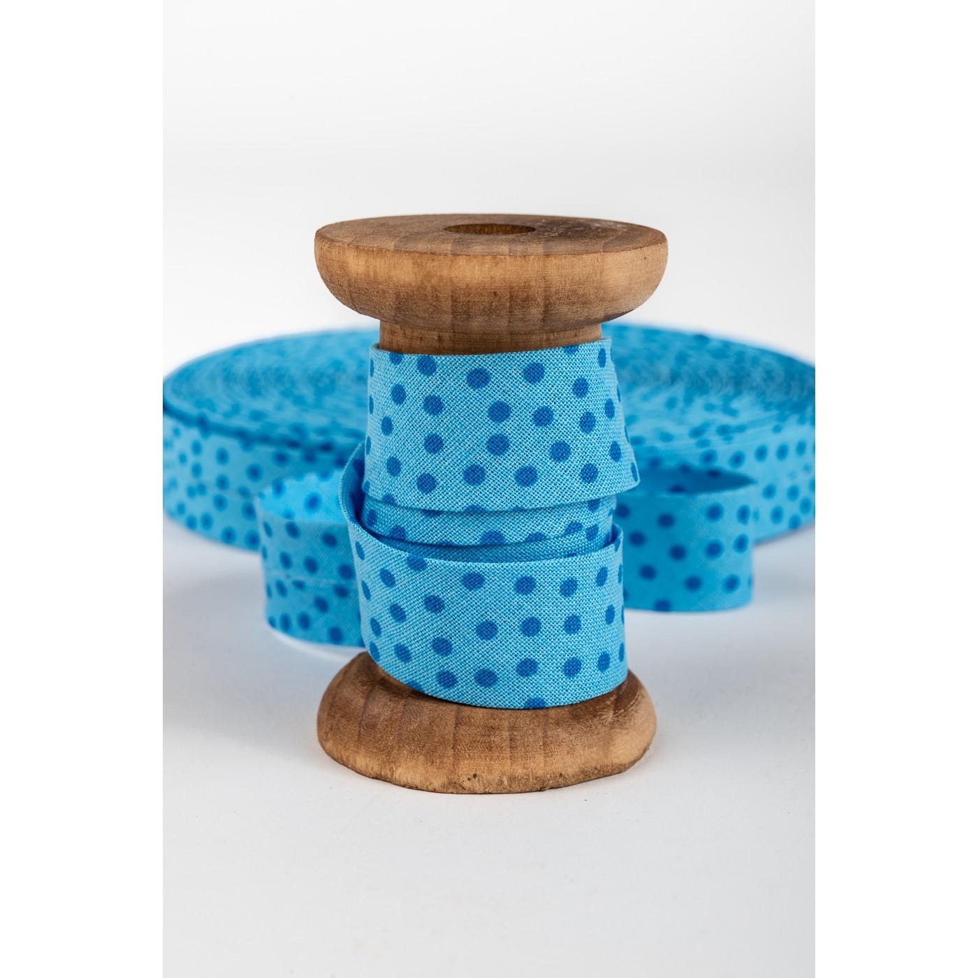 bSchrägband, bleu-blau Punkte