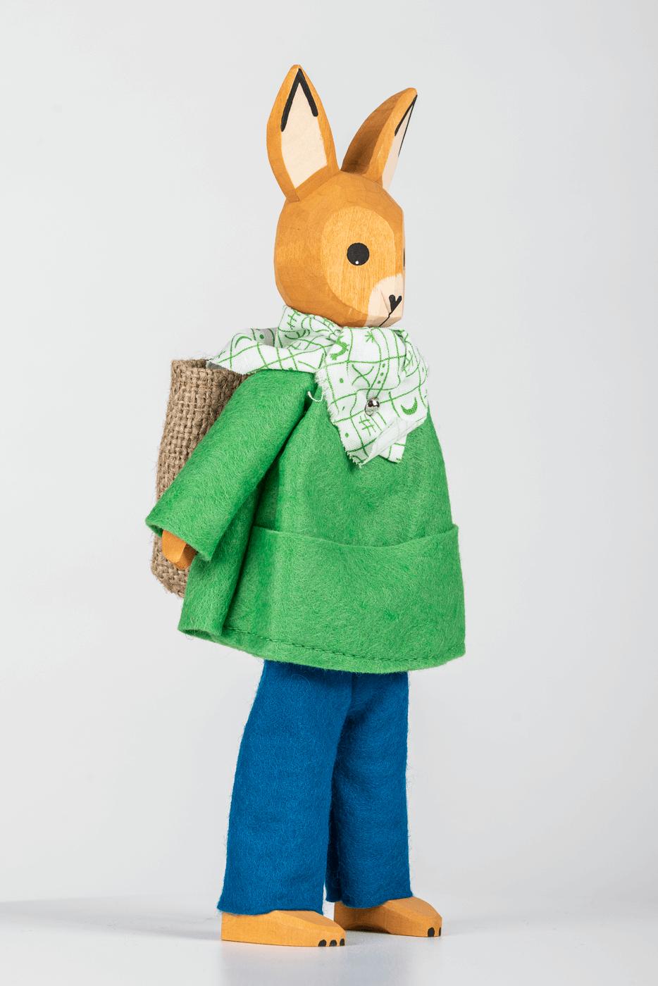 In Stoff gekleidete Hasen