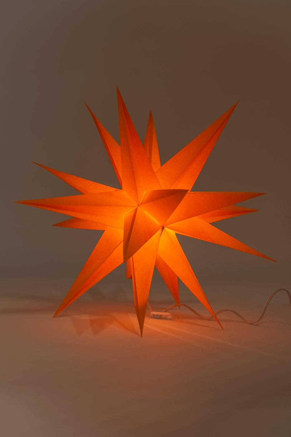 Annaberger Faltstern orange No. 3