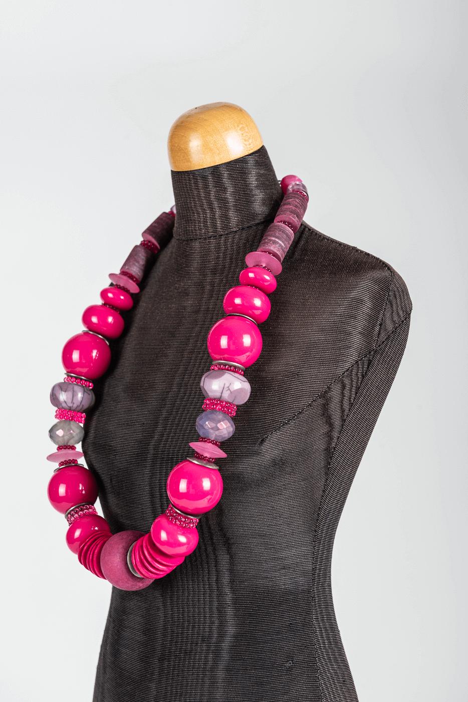 Halskette Langani, rosa