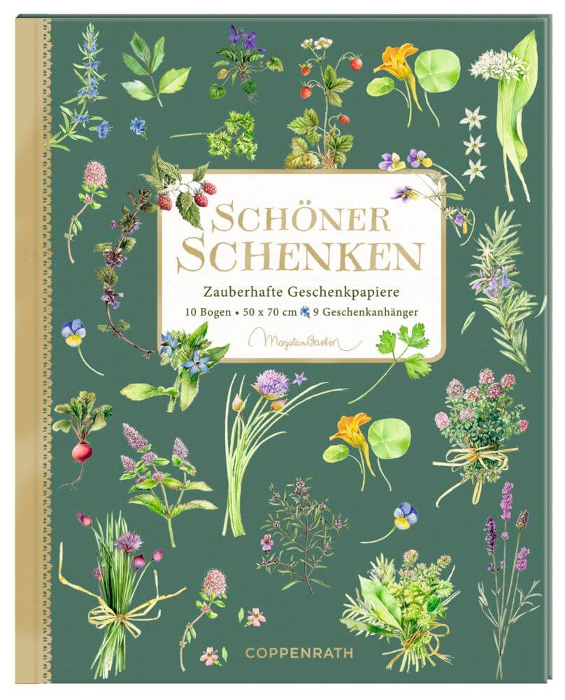 Geschenkpapier-Buch - Schöner Schenken (Kräuter & Blumen)