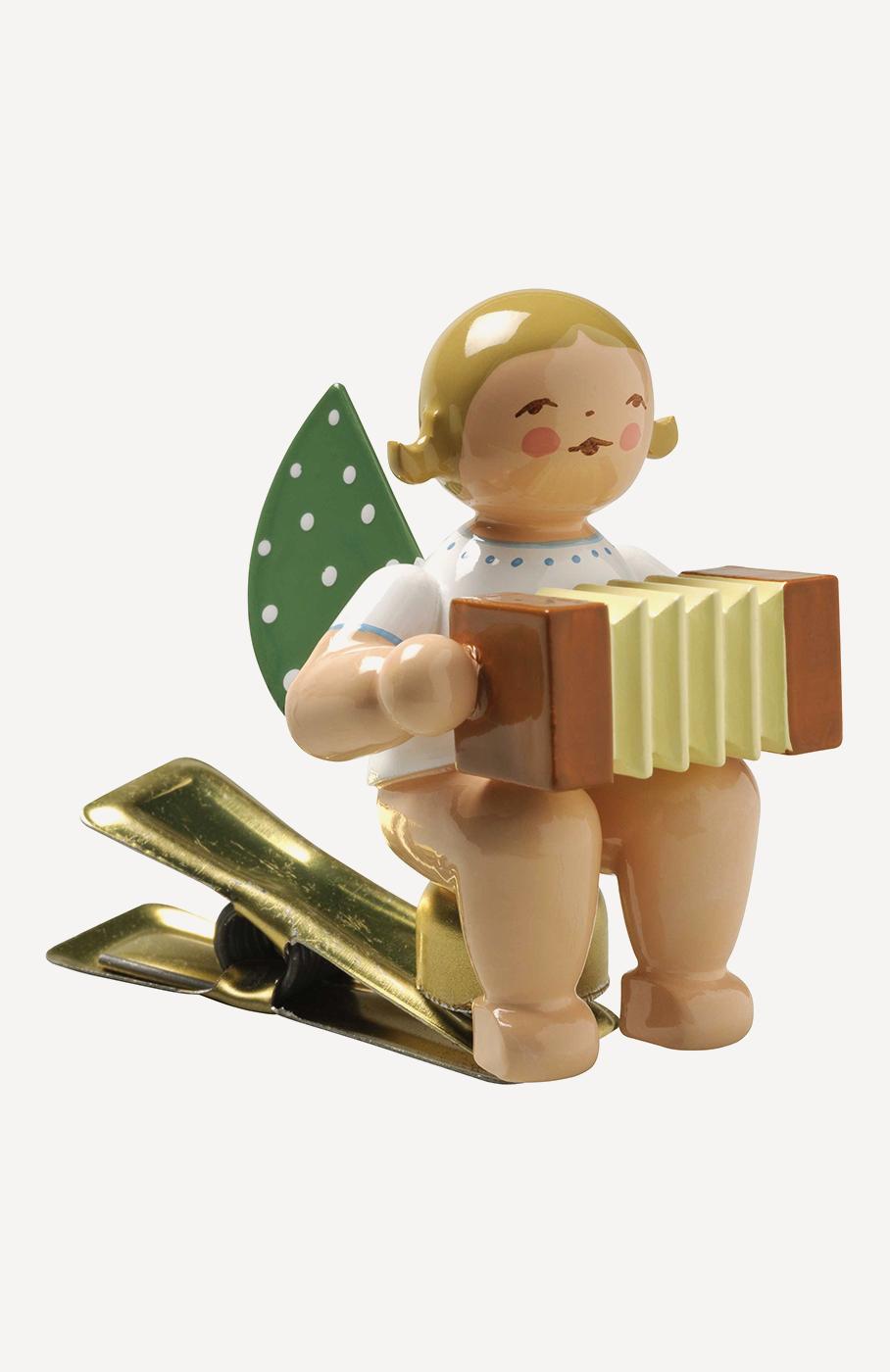 Engel mit Harmonika, auf Klemme