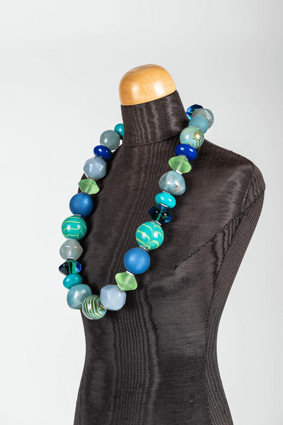 Halskette Langani, grün