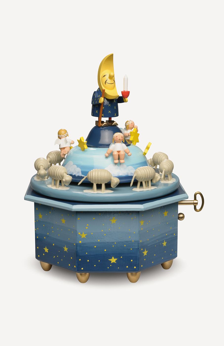 Spieldose 'Mondvater mit Engeln'