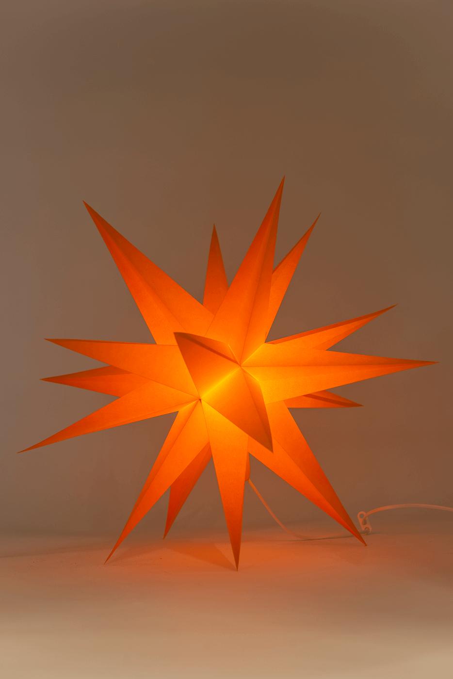 Annaberger Faltstern orange No. 5