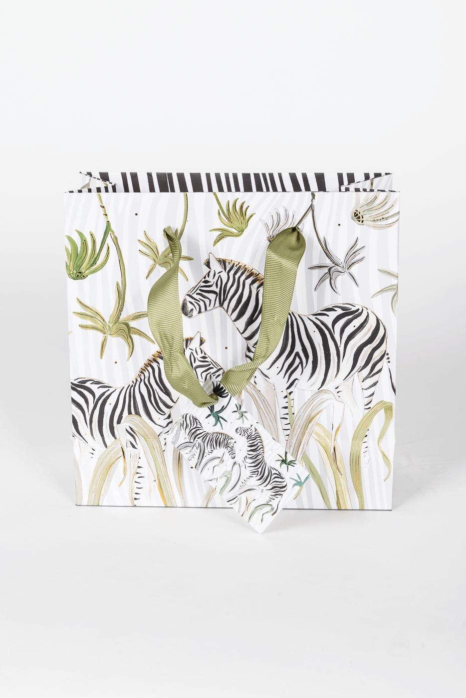 Geschenktasche, Wild Life, Zebra