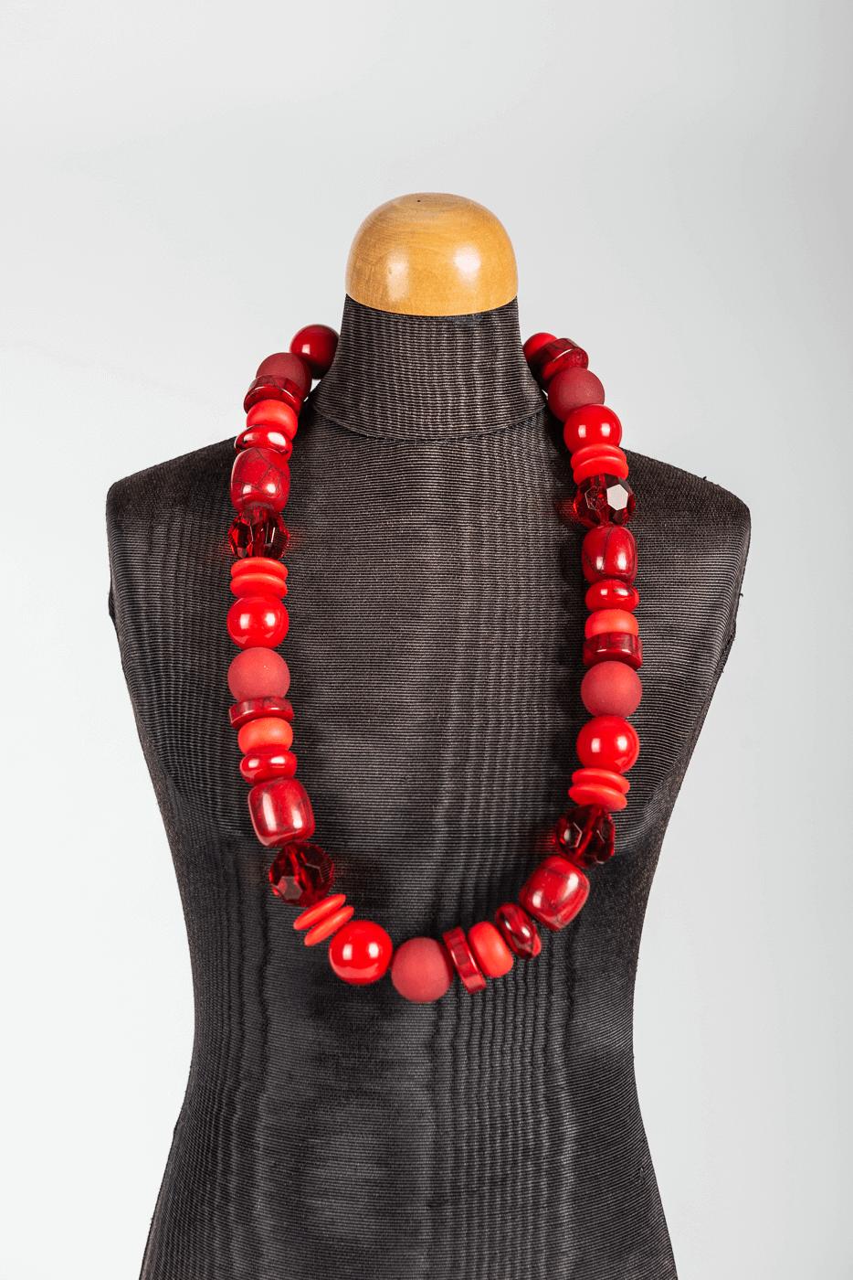 Halskette Langani, rot