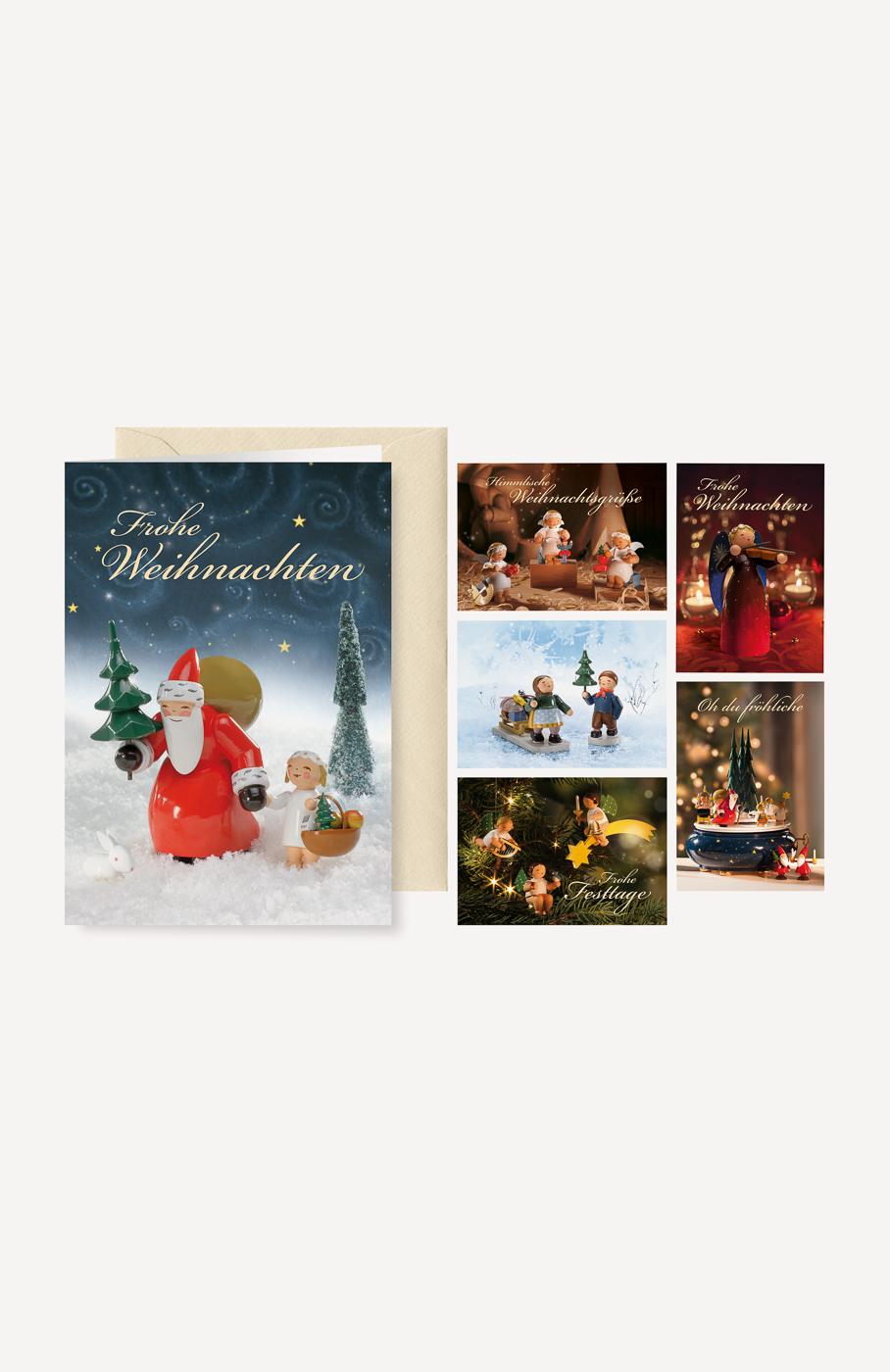 """Grußkartenserie """"Weihnachtsgrüße"""" mit Briefumschlägen, 6 Karten, 6 Motive"""