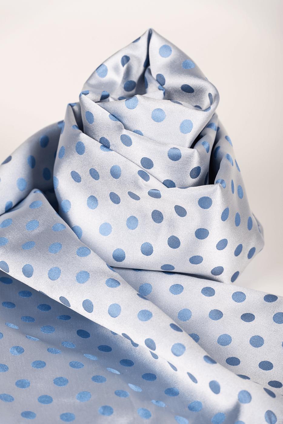 Schal Punkte blau/hellblau