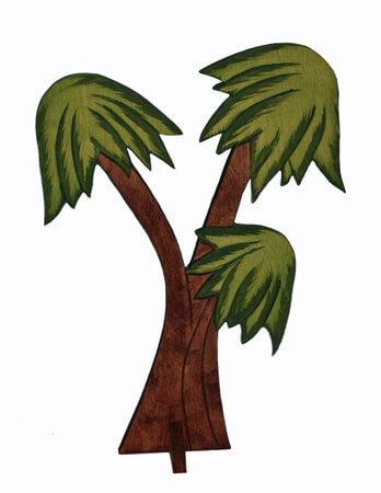 Palme, dreiteilig