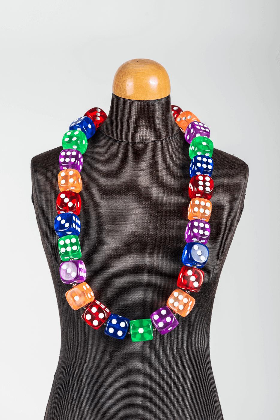 Halskette Würfel