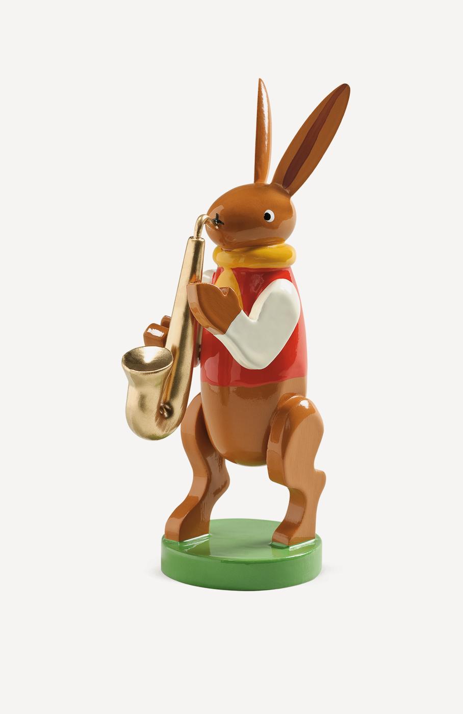 Hasenmusikant mit Saxophon