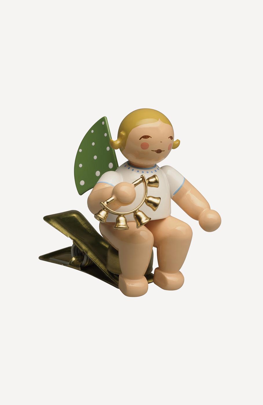 Engel mit Glockenkranz, auf Klemme