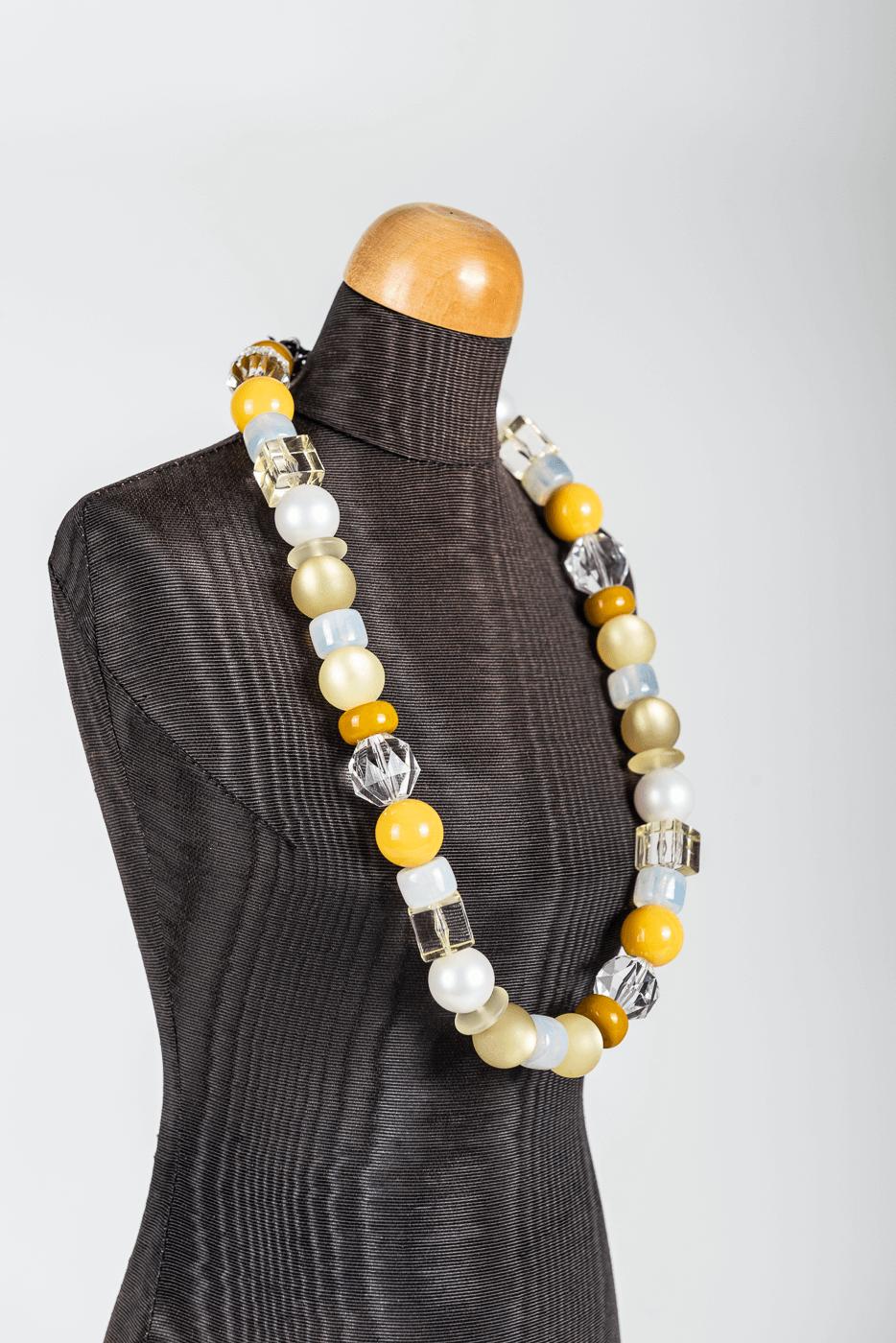 Halskette Langani, gelb