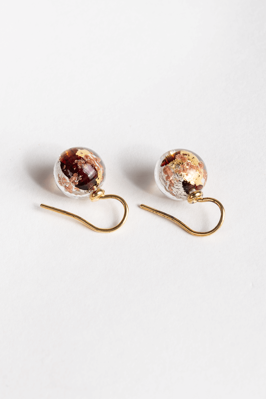 Ohrringe, gold-schwarz