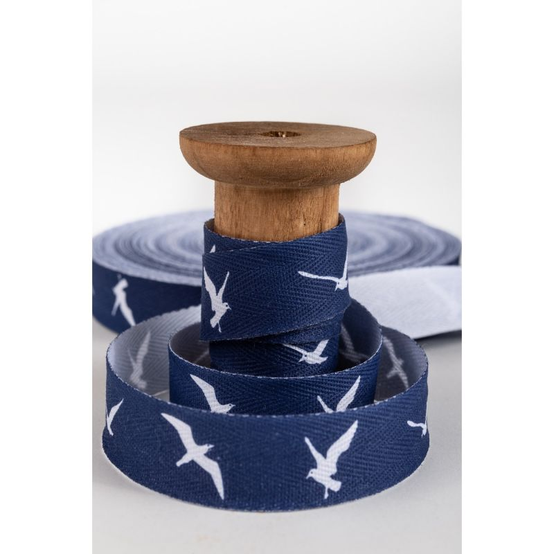 aDruckband, Möwe blau