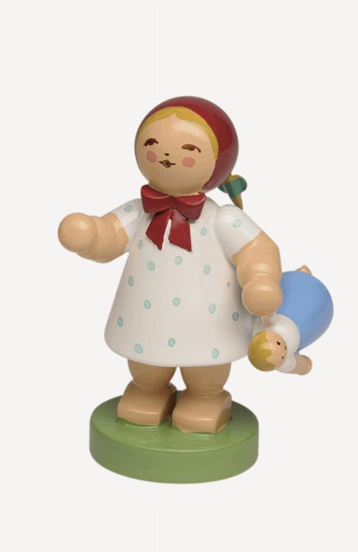 aMädchen mit Puppe