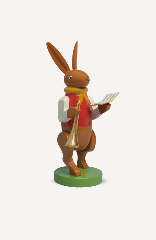 aHasenmusikant mit Flöte und Liederbuch