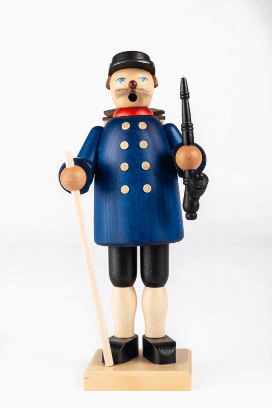 aRäuchermann Kiepenkerl mit blauer Jacke