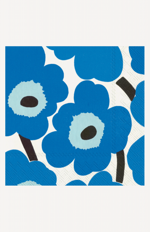 aLunch-Servietten, blue, marimekko, Unikko