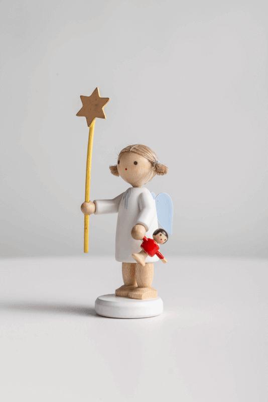aEngel mit Stern und Puppe