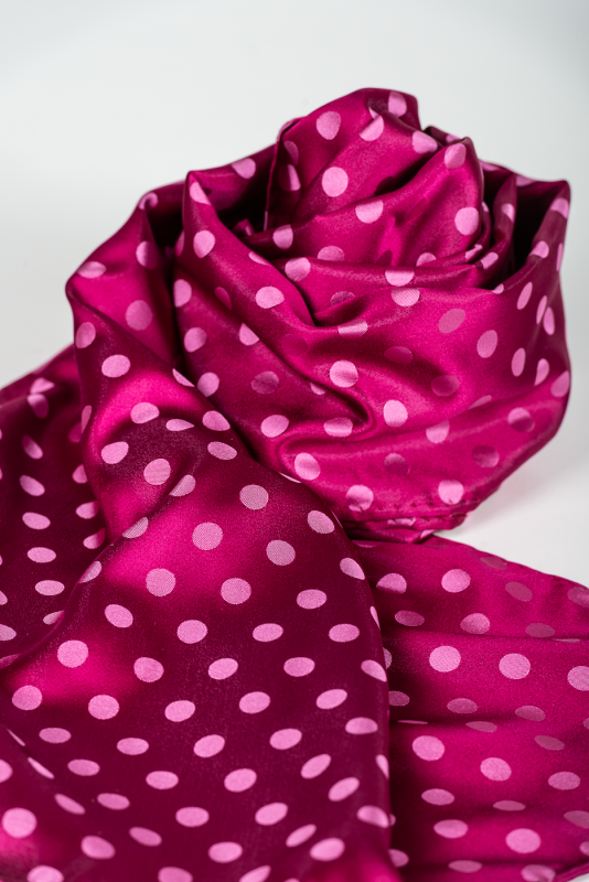 aSchal Punkte, fuchsia/rosa