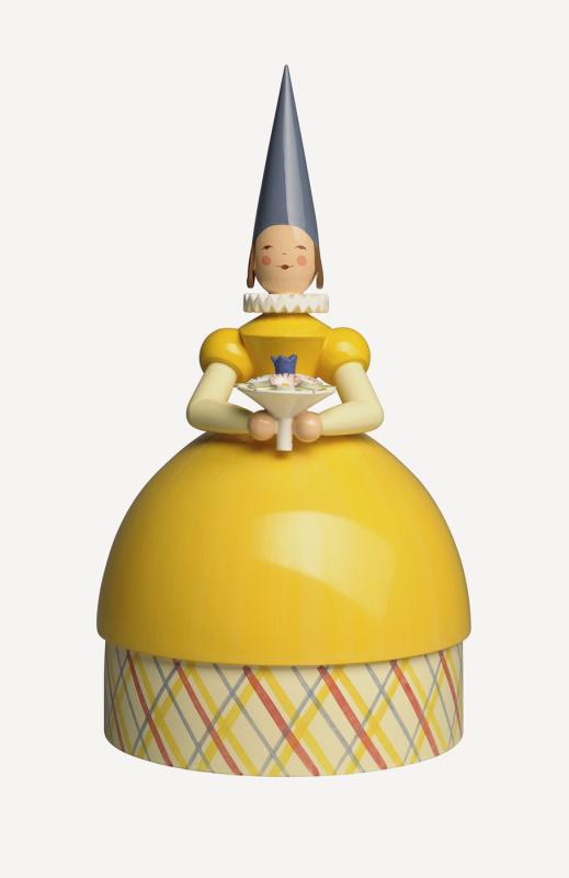 aKnauldame Prinzessin, gelbes Kleid