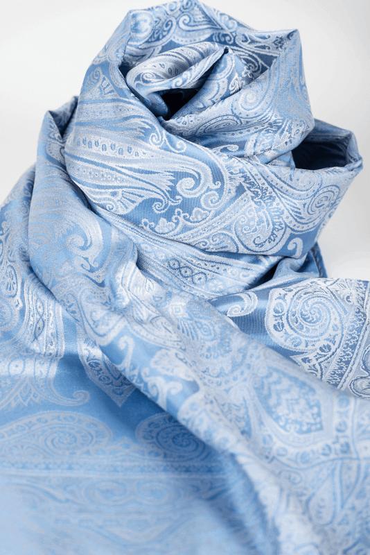 aSchal Paisley, bleu/hellblau