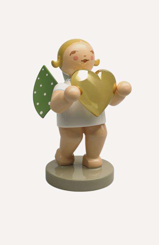 aLiebesbote, Engel mit vergoldetem Herz - Goldedition No.3