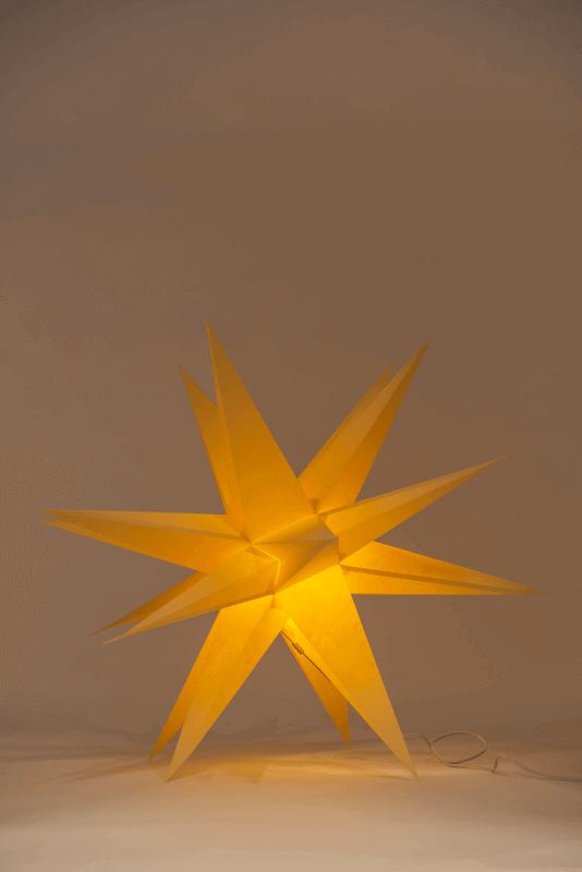 aAnnaberger Faltstern gelb No.5