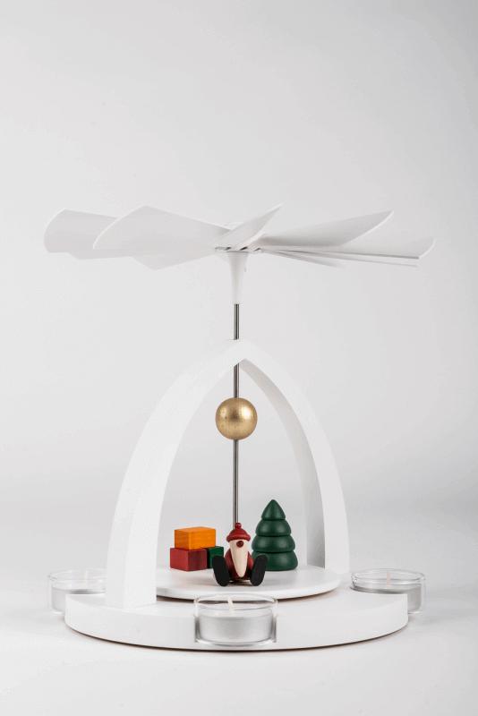 aTeelichtpyramide / Weihnachtsmann - Set