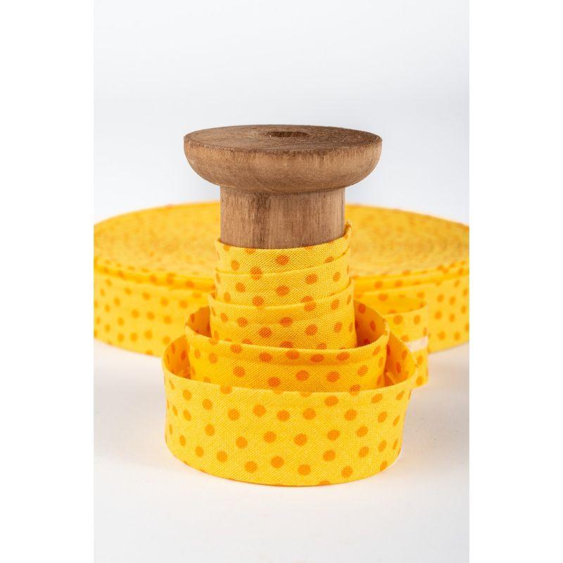 aSchrägband, gelb-orange Punkte