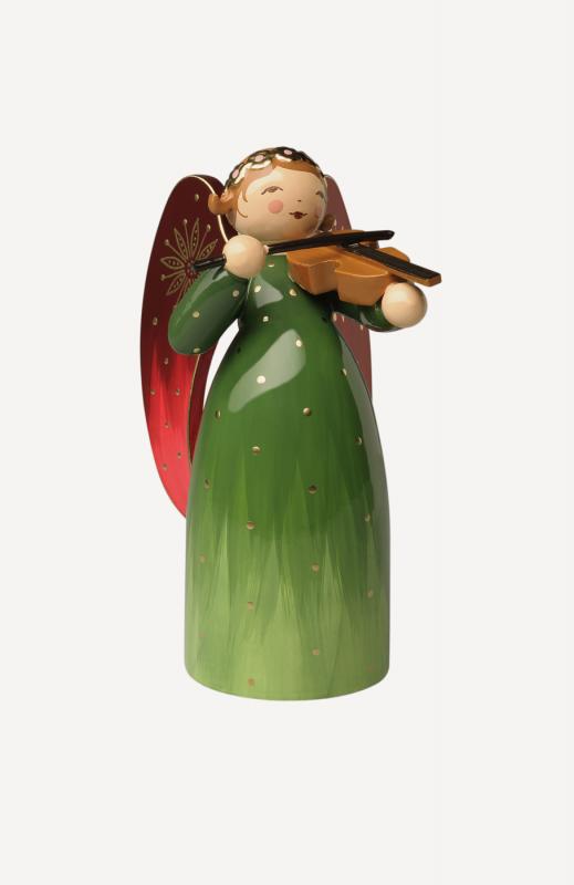 aEngel reich bemalt, mit Violine