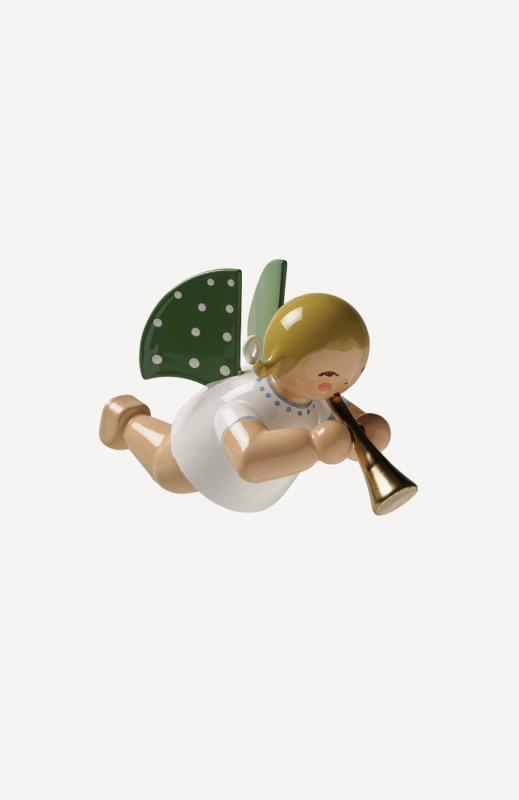 aEngel mit Flöte, schwebend