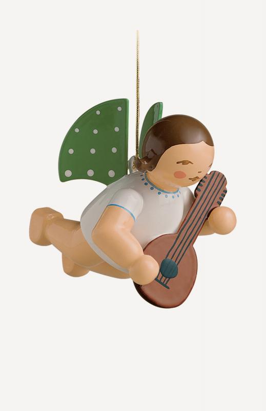 aEngel mit Mandoline, schwebend