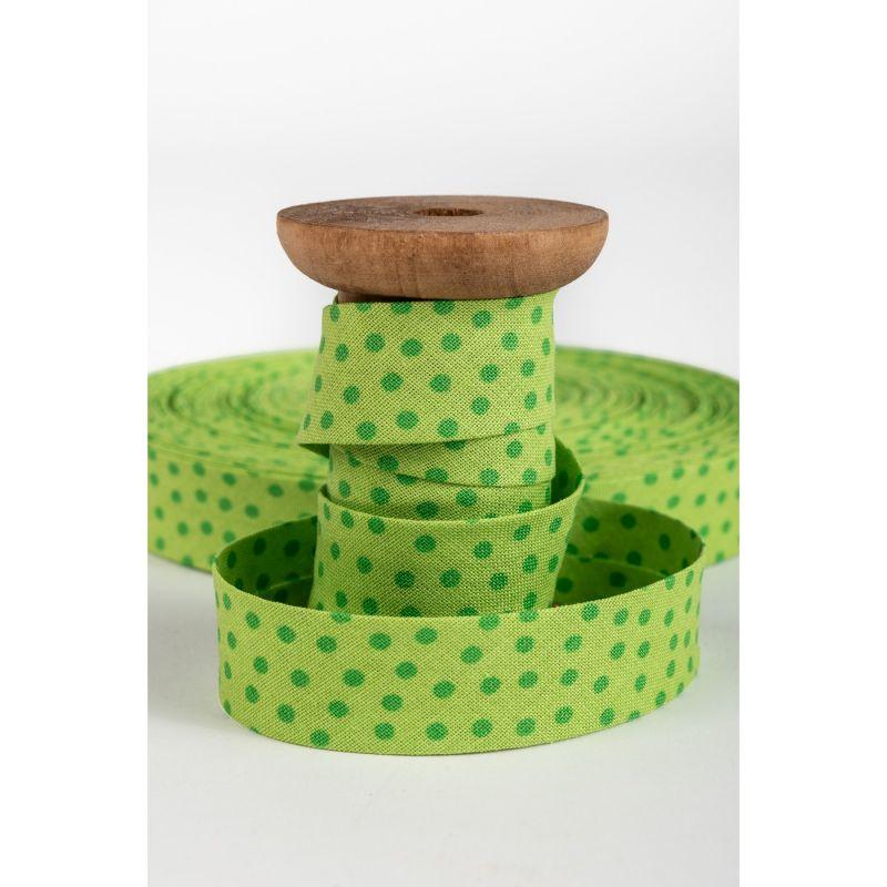 aSchrägband, grün Punkte