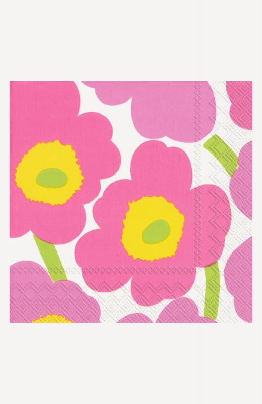 aLunch-Servietten, light pink, marimekko, Unikko