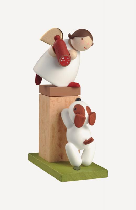 aSchutzengel® auf Sockel mit Hund