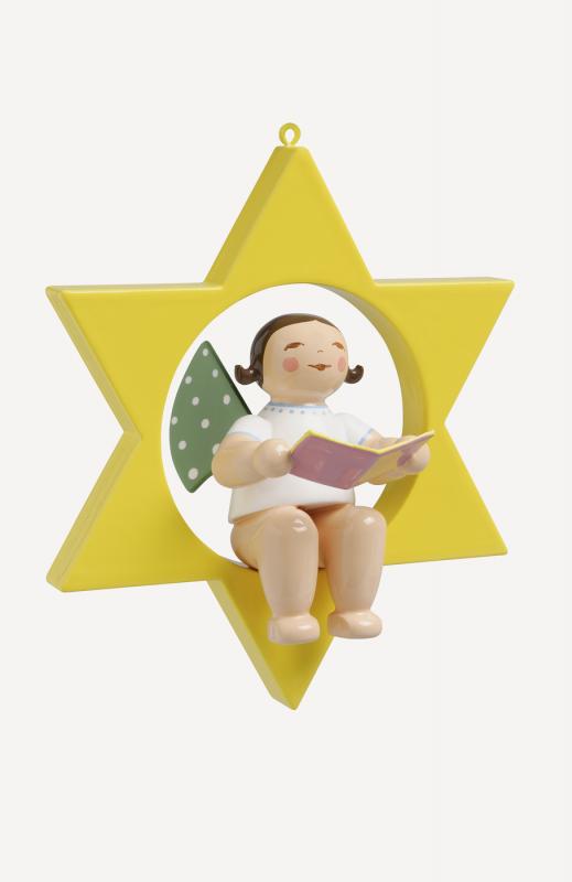 aEngel mit Liederbuch, im Stern
