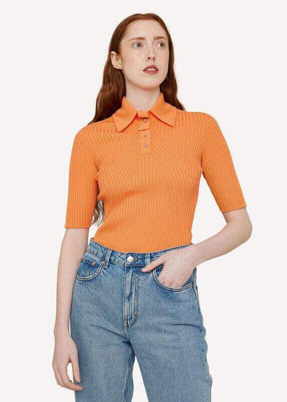 aOdd Button Polo Shirt